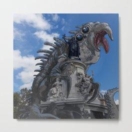 Mastodonte place de la République Metal Print