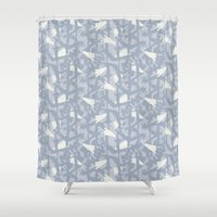 camouflage Shower Curtains featuring Camouflage by Grafite