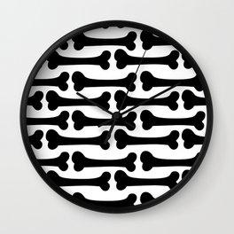 Bone Pattern Wall Clock