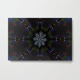 Continuous Christmas Lights Metal Print