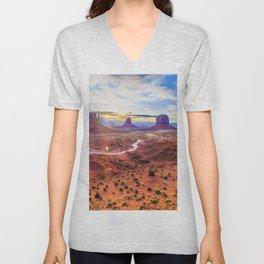 Monument Valley, Utah No. 2 Unisex V-Neck