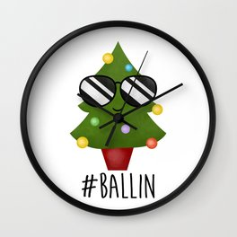 #Ballin Wall Clock