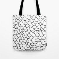 angel wings Tote Bags featuring angel wings by her art