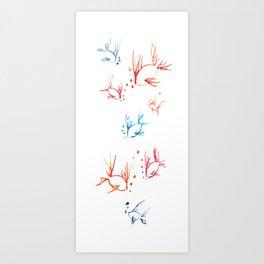 Inky Fish Art Print