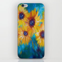 Impressionistic Sunflowers iPhone Skin