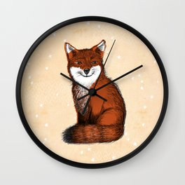 Feeling Foxy Woodland Animal Illustration Wall Clock