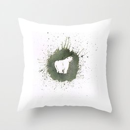 PolarBear Throw Pillow