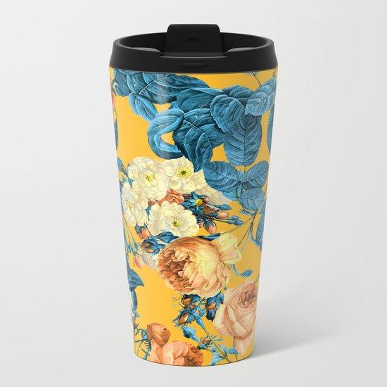 Summer Botanical II Metal Travel Mug