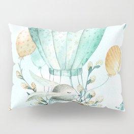 Cute Easter Bunny Hot Balloon Pillow Sham