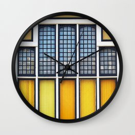 Church Windows Wall Clock