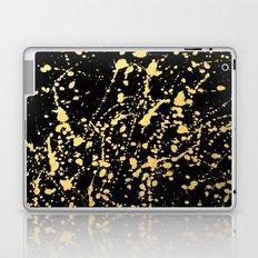 Splat Gold on Black Laptop & iPad Skin