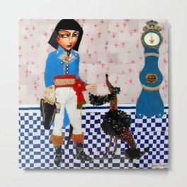 Napoleon's Dog's - French Poodle Metal Print