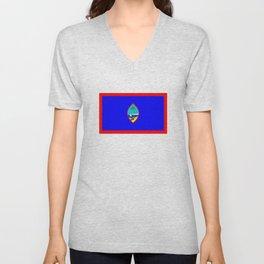 Guam country flag Unisex V-Neck