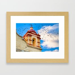Magical Moment And An Old Bell Tower in Oaxaca Mexico Framed Art Print