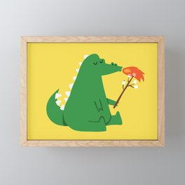 Dragon and Marshmallow Framed Mini Art Print