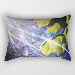 Leaves Dancing in the Magic of Night Rectangular Pillow