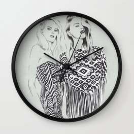Emilio Pucci's fashion show (Spring 2014) Wall Clock