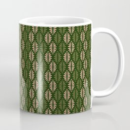 Evergreen pinecones pattern - dusty rose & green palette  Coffee Mug