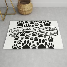 Love Comes In Many Sizes Rug