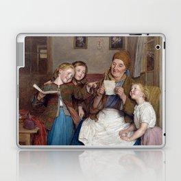 Ferdinand Georg Waldmüller Grandmother with Three Grandchildren Laptop & iPad Skin