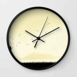 The violence of the wind Wall Clock