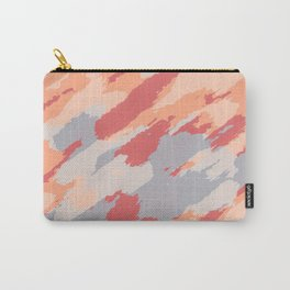 blue grey orange and brown painting abstract background Carry-All Pouch