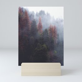 Fog in the forest Mini Art Print