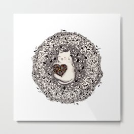 Joyful Cat Metal Print