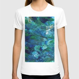 Underwater Flow Acrylic Abstract Painting T-shirt