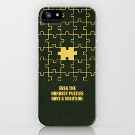 Lab No. 4 -Even The Hardest Puzzles Have A Solution Corporate Start-Up Quotes iPhone Case