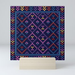Bohemian Kilim Ethnic Pattern 1 Mini Art Print