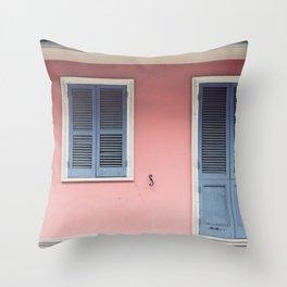 French Quarter Color, No. 3 Throw Pillow