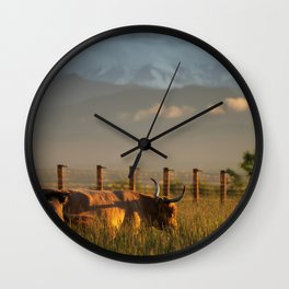 Highlands in the Rockies Wall Clock