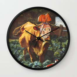 Kuh, Koller, Collage Wall Clock