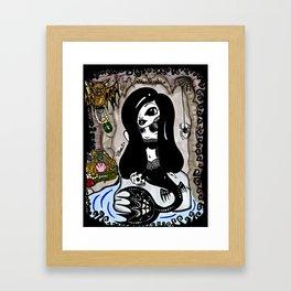 Xena Rose and Cedric. Framed Art Print