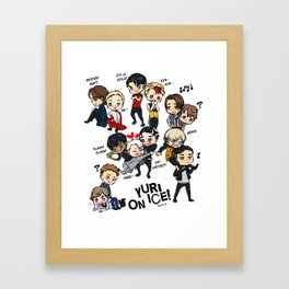 Yuri On Ice - Full Chibi Team! Framed Art Print
