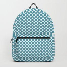 Aquamarine and White Polka Dots Backpack