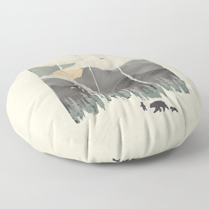 Spring Mountain Weather Floor Pillow