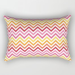Rainbow Chevron #1 Rectangular Pillow