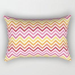 Rainbow Chevron #1 Rectangular Pillow
