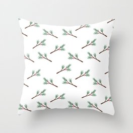 Berry Sprig Throw Pillow
