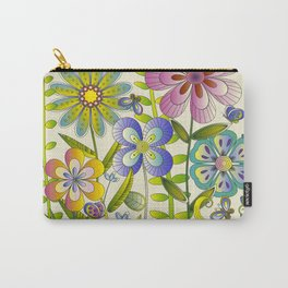 Petty Flowers Pattern 2 Carry-All Pouch