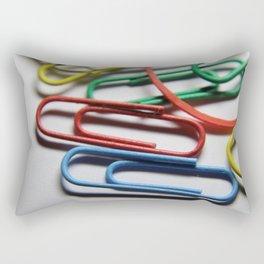paper clips Rectangular Pillow