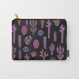 Cactus Pattern On Chalkboard Carry-All Pouch