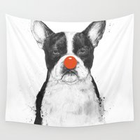clown Wall Tapestries featuring I'm not your clown by Balazs Solti