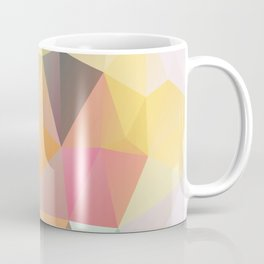 Polygon print bright colors Coffee Mug