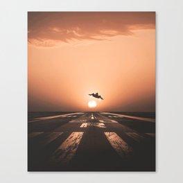 SR-71 Blackbird Takeoff Canvas Print