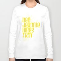 caleb troy Long Sleeve T-shirts featuring Ben Jerome Hines Troy / Black by Brian Walker