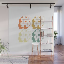 Social Media Hashtags For OnLine Influencers & Streamers Wall Mural