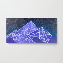 Simplistic Mountains Metal Print